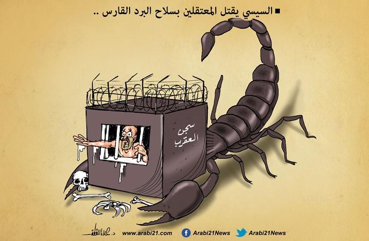 תנאים קשים בכלא עקרב במצרים. הקריקטורה השבועית של עידית